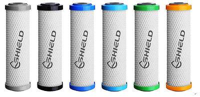 2 Set 0.5 Micron Replacement Water Filters Cartridges Sediment + Coconut Carbon 7