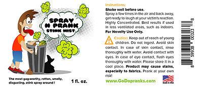 Spray N Prank Stink Mist 1 fl oz Nasty Rotten Liquid Smelly Ass Feet Fart Spray 3