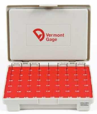 VERMONT GAGE 902400100 Pin Gage Set,Minus,0.21-1.29mm,Black 2
