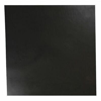 "E. JAMES 2080-3/8A 3/8"" Comm. Grade Neoprene Rubber Sheet, 12""x12"", Black, 70A 2"