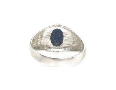 19thC Antique Gemstone 3½ct Lapis Lazuli Ring Ancient Gem of Heaven 6
