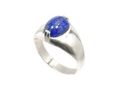 19thC Antique Gemstone 3½ct Lapis Lazuli Ring Ancient Gem of Heaven 3