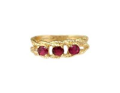 Gold Ruby Ring ¾ct Siam Antique 19thC Gem of Ancient Asia Warrior Invincible 10k 4