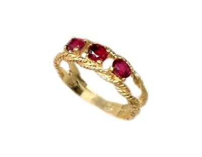 Gold Ruby Ring ¾ct Siam Antique 19thC Gem of Ancient Asia Warrior Invincible 10k 6