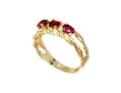 Gold Ruby Ring ¾ct Siam Antique 19thC Gem of Ancient Asia Warrior Invincible 10k 3