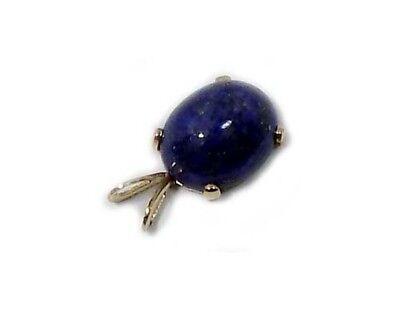 19thC Antique 3 1/2ct Lapis Lazuli Ancient Gem of Heaven Gold Fill Pendant 5