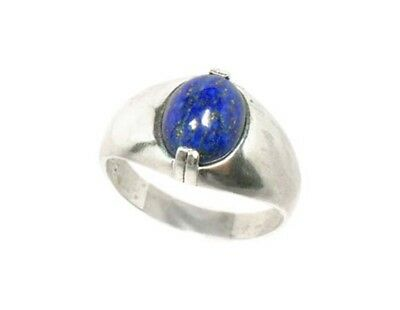 19thC Antique Gemstone 3½ct Lapis Lazuli Ring Ancient Gem of Heaven 8