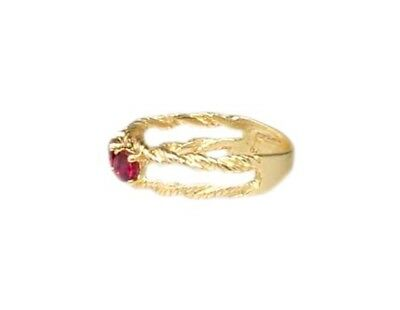 Gold Ruby Ring ¾ct Siam Antique 19thC Gem of Ancient Asia Warrior Invincible 10k 5
