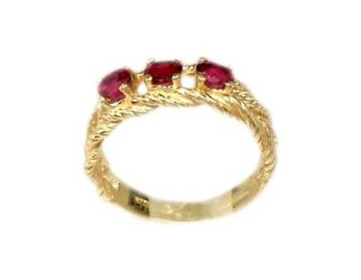 Gold Ruby Ring ¾ct Siam Antique 19thC Gem of Ancient Asia Warrior Invincible 10k 8