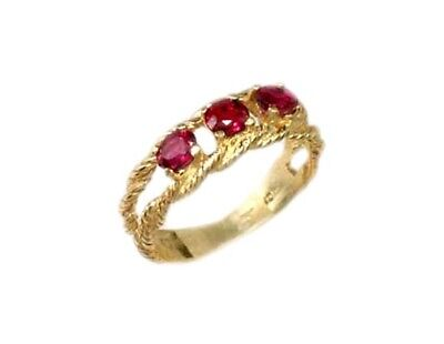 Gold Ruby Ring ¾ct Siam Antique 19thC Gem of Ancient Asia Warrior Invincible 10k 2