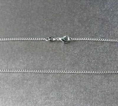 925 Silver Curb Chain Necklace Lobster Clasp All Inch Sizes 10000+Sold Uk Seller 2