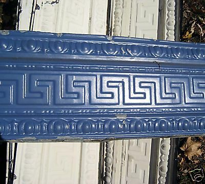 SALE Victorian Art Deco Ceiling Tin Tile Geometric Aztec Egg Dart Chic Fleur De 5