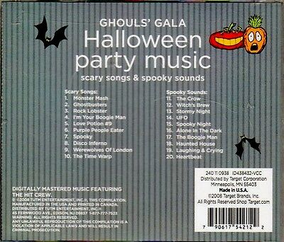 target ghouls gala halloween party music classic scary songs spooky sounds cd
