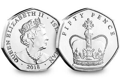 UNC Isle Of Man 2018 Sapphire Crown Set Of 5 X 50p 5