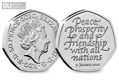 Brexit 50p uncirculated from sealed bag posted at 2.20pm on20-02-20 2 available 2