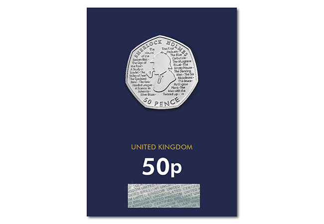 2019 UK Sherlock Holmes CERTIFIED BU 50p 2