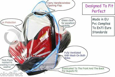 Rain Cover To Fit Maxi-Cosi CabrioFix & Pebble baby car seat New VENTILATED 2