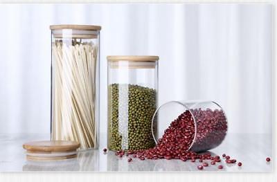 Vorratsglas aus Glas Vorratsgläser Vorratsdose Glasbehälter mit Bambus Deckel 7
