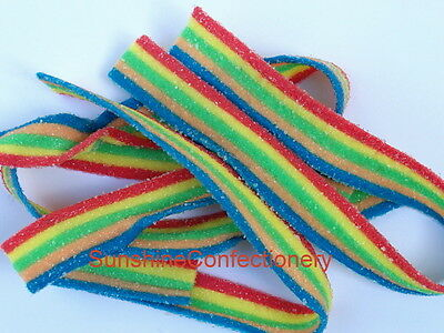 TNT- MULTI-COLOURED SOUR STRAP LOLLIES  -  200 sour straps 5