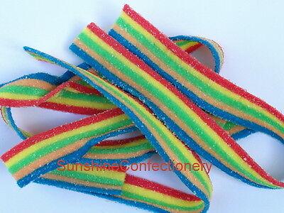 TNT- MULTI-COLOURED SOUR STRAP LOLLIES  -  200 sour straps 5