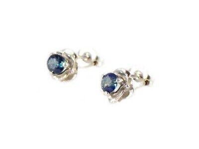 Blue Sapphire Earrings ¾ct+ Antique 19thC - Medieval Ram Gem Stopped Black Magic 3