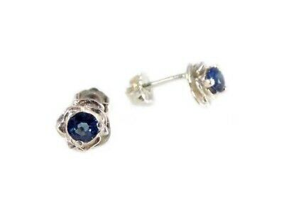 Blue Sapphire Earrings ¾ct+ Antique 19thC - Medieval Ram Gem Stopped Black Magic 2