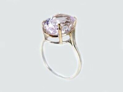 19thC Antique 10ct Afghani Kunzite Gold Ring Ancient Good Luck Symbol of Purity 7