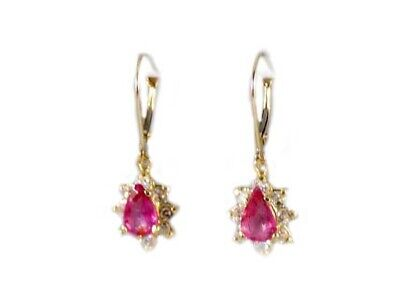 Gold Pink Tourmaline Earrings 1½ct Antique 19thC Gem of China Last Empress 14kt 7