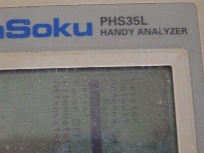 【AS-IS】Shibasoku Handy Analyzer PHS35L with AC Adapter 4
