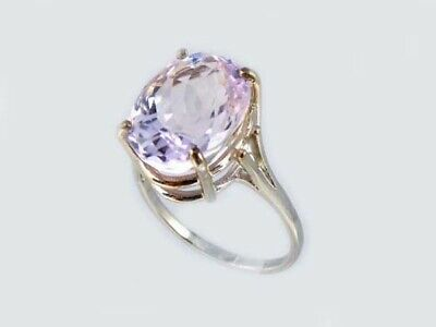 19thC Antique 10ct Afghani Kunzite Gold Ring Ancient Good Luck Symbol of Purity 3