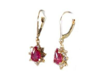 Gold Pink Tourmaline Earrings 1½ct Antique 19thC Gem of China Last Empress 14kt 4