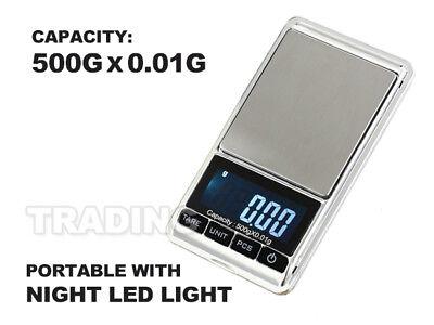 New 500g 0.01 DIGITAL POCKET SCALES JEWELLERY ELECTRONIC 10 milligram micro gm