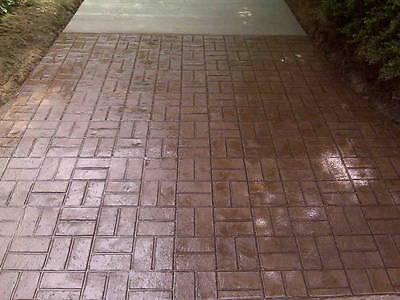 New Brick Basketweave Decorative Concrete Cement Texture Imprint Stamp Floppy