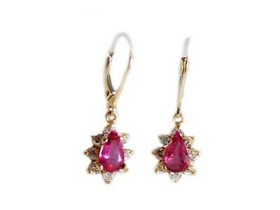Gold Pink Tourmaline Earrings 1½ct Antique 19thC Gem of China Last Empress 14kt 10