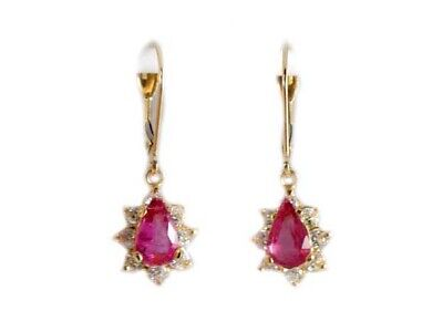 Gold Pink Tourmaline Earrings 1½ct Antique 19thC Gem of China Last Empress 14kt 2