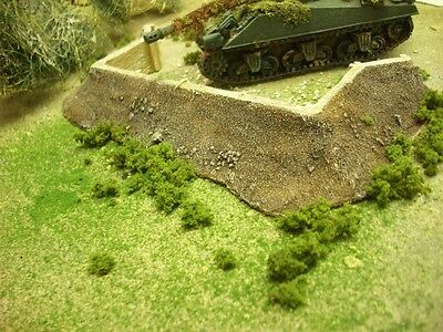 wargames scenery Earthwork with timber for 28mm figs. 889