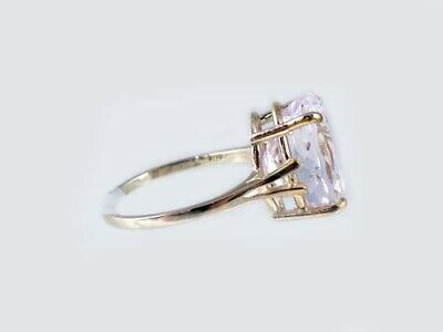19thC Antique 10ct Afghani Kunzite Gold Ring Ancient Good Luck Symbol of Purity 6