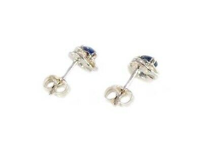 Blue Sapphire Earrings ¾ct+ Antique 19thC - Medieval Ram Gem Stopped Black Magic 8