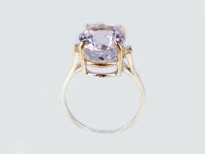 19thC Antique 10ct Afghani Kunzite Gold Ring Ancient Good Luck Symbol of Purity 9