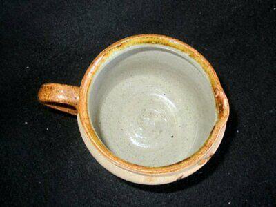 Netzi Mexican Tonala Art Pottery Creamer Hand Painted Sandstone Enameled 3