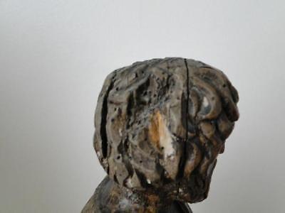 Escultura de Madera 17º Saint Sculpte 17º con Drape Estatuilla Religiosa G68 7