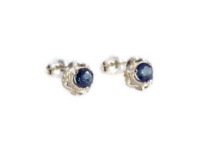Blue Sapphire Earrings ¾ct+ Antique 19thC - Medieval Ram Gem Stopped Black Magic 4