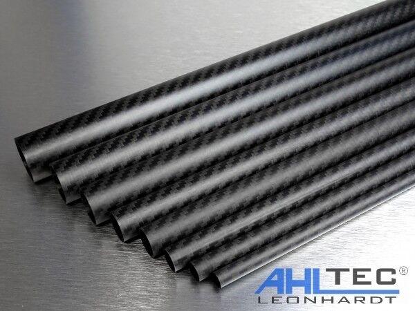 Länge wählbar Carbon Rohr Ø 22mm Sichtcarbon CFK Kohlefaser Tube 3K Köper