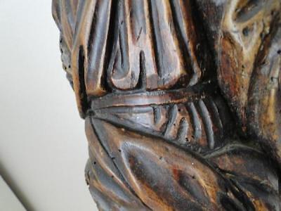 Escultura de Madera 17º Saint Sculpte 17º con Drape Estatuilla Religiosa G68 11