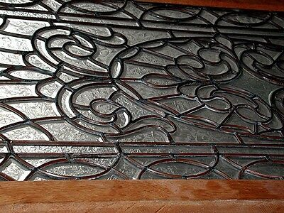 Leaded and Beveled Glass Panel, Early 20th c. #2193 3