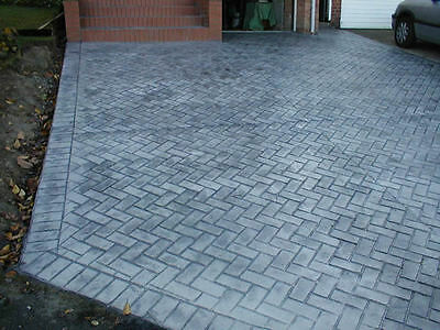 New brick herringbone sanded grout decorative concrete cement stamp mat floppy picclick - Decoratie grot ...