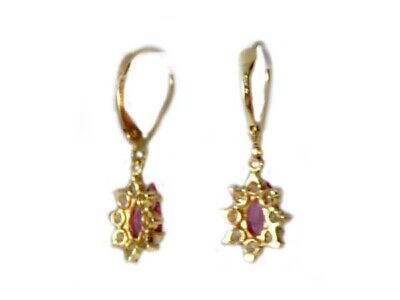 Gold Pink Tourmaline Earrings 1½ct Antique 19thC Gem of China Last Empress 14kt 8