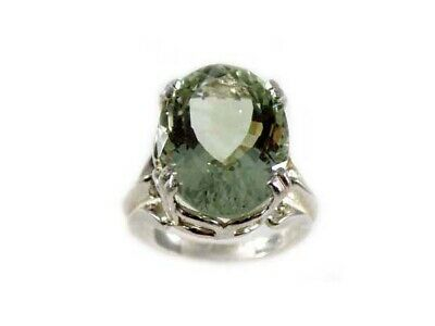 Green Amethyst Ring Antique 19thC Poland Ancient Celt Rome Greek Warrior Amulet 4