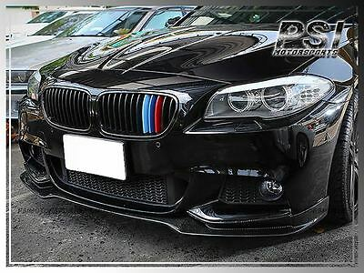 E Style Carbon Fiber Front Bumper  Lip for 11-15 BMW F10 M-Tech Only 528i 550i 2