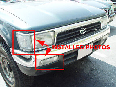COMBO DEPO Clear Front Corner Bumper Signal Light For 1992-1995 Toyota 4Runner